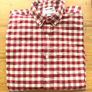 Old Navy-Red Checkerboard Shirt-Large